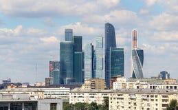Moskwa miasta międzynarodowy biznesowy centre, Rosja Zdjęcia Stock
