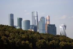 Moskwa miasta mieszkania i biznes ześrodkowywamy Moskwa rzeka Obraz Royalty Free