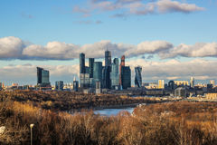 Moskwa miasta, Moskwa Międzynarodowy centrum biznesu, Rosja Zdjęcie Stock