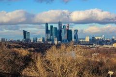 Moskwa miasta, Moskwa Międzynarodowy centrum biznesu, Rosja Obraz Stock