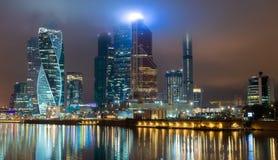 Moskwa, miasto, biznes, centrum, obserwacja, Rosja zdjęcie stock