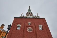 Moskwa - 15 04 2017: Moskwa Kremlin, zima czas Obraz Royalty Free