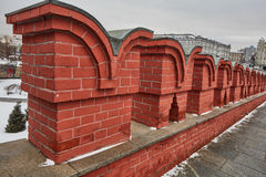 Moskwa - 15 04 2017: Moskwa Kremlin, zima czas Fotografia Stock