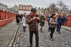 Moskwa - 15 04 2017: Moskwa Kremlin, zima czas Zdjęcia Stock