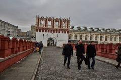 Moskwa - 15 04 2017: Moskwa Kremlin, zima czas Zdjęcia Royalty Free