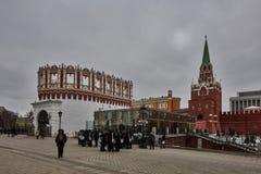 Moskwa - 15 04 2017: Moskwa Kremlin, zima czas Obraz Stock
