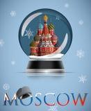 Moskwa śniegu kula ziemska Obrazy Royalty Free