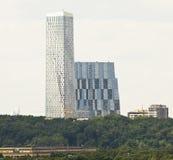 Moskwa, nowożytny drapacz chmur Zdjęcia Royalty Free
