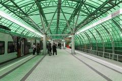 Moskwa, październik 01 2016 Centrum Biznesu - stacja Moskwa centrali pierścionek Obraz Stock