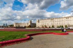 Moskwa, październik 01 2016 Gagarin kwadrat nad drogowym tunelem Obraz Royalty Free