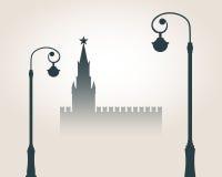 Moskwa pejzażu miejskiego linia horyzontu Fotografia Stock