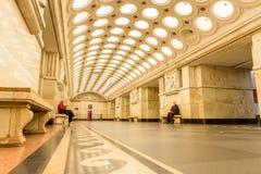 Moskwa, Rosja †'Lipiec 09, 2017: Wnętrze Elektrozavodskaya Obrazy Stock