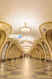 Moskwa, Rosja †'Lipiec 09, 2017: Wnętrze Novoslobodskaya Ja Zdjęcie Stock