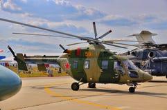 MOSKWA ROSJA, AUG, - 2015: przewieziony helikopter Mi-38 przedstawiający Zdjęcia Stock