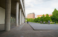 MOSKWA ROSJA, CZERWIEC, - 16, 2016: budynek Tretyakov galeria na Krymskim dyszlu zdjęcia royalty free