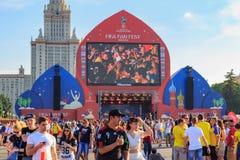Moskwa Rosja, Czerwiec, - 28, 2018: Fan od różnych krajów na FIFA Wachlują Fest 2018 na Wróblich wzgórzach w Moskwa Obraz Royalty Free