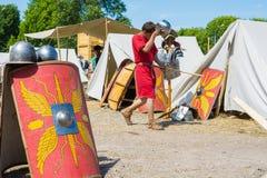 MOSKWA ROSJA, CZERWIEC, - 07, 2015: Festiwal epoki i czasy Zdjęcia Stock