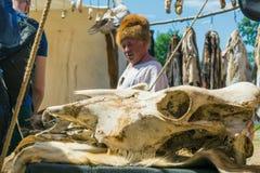 MOSKWA ROSJA, CZERWIEC, - 07, 2015: Festiwal epoki i czasy Obrazy Stock