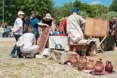 MOSKWA ROSJA, CZERWIEC, - 07, 2015: Festiwal epoki i czasy Obraz Royalty Free
