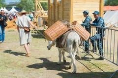 MOSKWA ROSJA, CZERWIEC, - 07, 2015: Festiwal epoki i czasy Zdjęcie Royalty Free