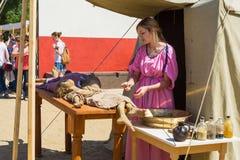 MOSKWA ROSJA, CZERWIEC, - 07, 2015: Festiwal epoki i czasy Obrazy Royalty Free