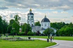 Moskwa Rosja, Czerwiec, - 08, 2016 Kościół ikona MostHoly matka bóg daje wiosna w rezerwie Obrazy Stock