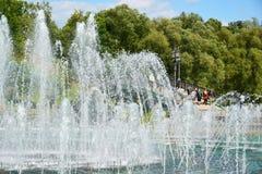 Moskwa Rosja, Czerwiec, - 08 2016 Muzykalna fontanna Tsaritsyno muzeum Obraz Royalty Free
