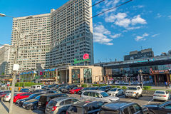 Moskwa, Rosja -03 2016 Czerwiec Nowa Arbat ulica - jeden środkowe ulicy miasto Obraz Stock