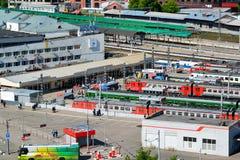 Moskwa Rosja, Czerwiec, - 8, 2016 Odgórny widok Kursk stacja kolejowa Zdjęcia Stock