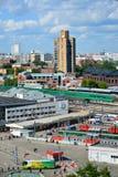 Moskwa Rosja, Czerwiec, - 8, 2016 Odgórny widok Kursk stacja kolejowa Zdjęcie Royalty Free