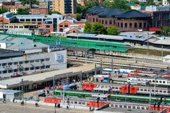 Moskwa Rosja, Czerwiec, - 8, 2016 Odgórny widok Kursk stacja kolejowa Obraz Stock
