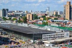 Moskwa Rosja, Czerwiec, - 8, 2016 Odgórny widok Kursk stacja kolejowa Fotografia Royalty Free