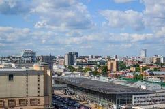 Moskwa Rosja, Czerwiec, - 8, 2016 Odgórny widok Kursk stacja kolejowa Obraz Royalty Free