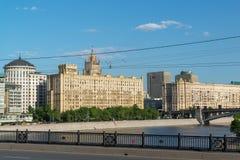 Moskwa, Rosja -03 2016 Czerwiec Ogólnego widoku Smolenskaya bulwar Zdjęcia Royalty Free