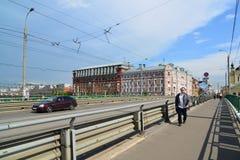 Moskwa Rosja, Czerwiec, - 03 2016 Ogólny widok Krasnoselski wiadukt Zdjęcie Royalty Free