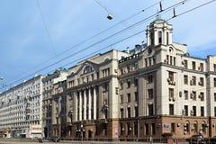 Moskwa Rosja, Czerwiec, - 03 2016 Ogólny widok uliczny Krasnoprudnaya Obraz Royalty Free