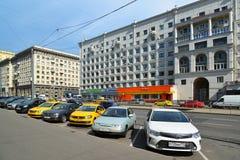Moskwa Rosja, Czerwiec, - 03 2016 Ogólny widok uliczny Krasnoprudnaya Zdjęcia Stock