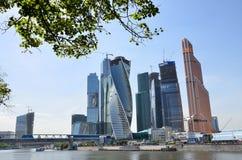 Moskwa, Rosja, Czerwiec, 02,2014 Rosyjska scena: Międzynarodowy Biznesowego Centre miasto Obrazy Royalty Free