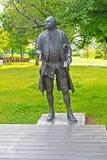 MOSKWA ROSJA, CZERWIEC, - 14, 2016: rzeźba Mikhail Lomonosov obraz royalty free