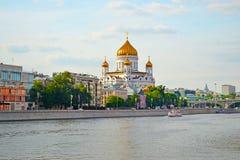 MOSKWA ROSJA, CZERWIEC, - 14, 2016: widok świątynia Chrystus wybawiciel obraz royalty free