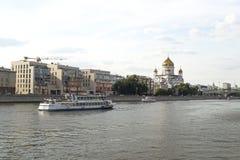 MOSKWA ROSJA, CZERWIEC, - 14, 2016: widok świątynia Chrystus wybawiciel fotografia royalty free