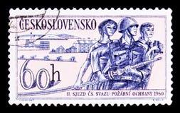 MOSKWA ROSJA, CZERWIEC, - 20, 2017: Znaczek drukujący w Czechoslovaki Zdjęcia Stock