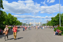 MOSKWA, ROSJA - 26 06 2015 Gorky park - centrala Zdjęcia Stock