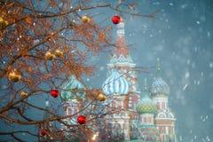 Moskwa Rosja, Grudzień, - 5, 2017: Choinka Handlowego domu dziąsło na placu czerwonym w Moskwa, Rosja Zdjęcia Stock