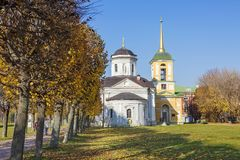 Moskwa, Rosja, Kuskovo nieruchomość Kościół wybawiciel zdjęcia stock