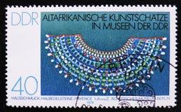 MOSKWA ROSJA, KWIECIEŃ, - 2, 2017: Poczta znaczek drukujący w DDR (Ger Obrazy Royalty Free