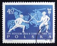 MOSKWA ROSJA, KWIECIEŃ, - 2, 2017: Poczta znaczek drukujący w Polska s Zdjęcie Royalty Free