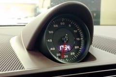 Moskwa Rosja, Kwiecień, - 01, 2019: Porsche 911 sporta chrono opcja, chronometr w wnętrzu premia sportowy samochód zdjęcie stock