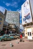 Rocznika samochód na Starej Arbat ulicie w Moskwa Fotografia Royalty Free