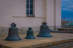 MOSKWA, ROSJA KWIECIEŃ, 29, 2018: Widok zlecający imperatorową Anna Tsar Bell wielki dzwon w świacie, obraz royalty free